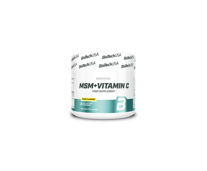 BiotechUSA Vitaminen en Mineralen - MSM + Vitamin C 150g