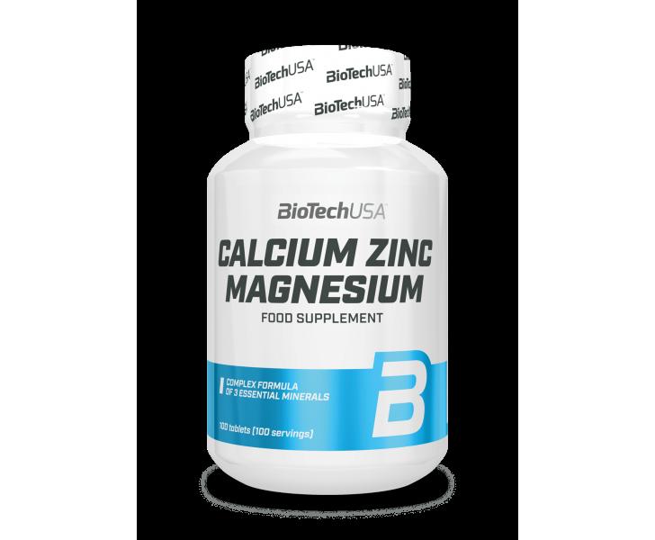 BiotechUSA Vitaminen en Mineralenx - CA-MG-ZN 100 tab.