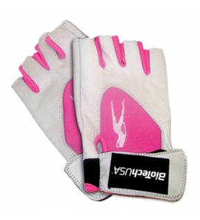 BiotechUSA Accessories - Lady1 L,gloves,leather,white-pink (PK)