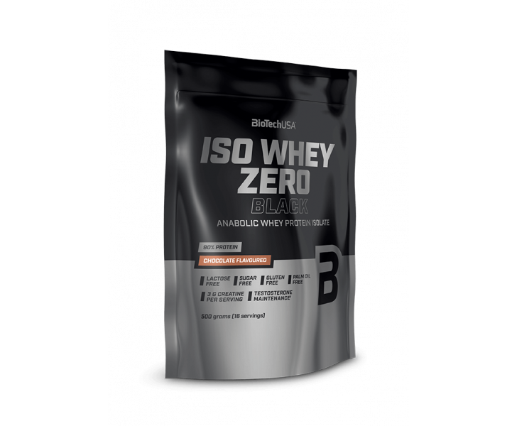 BiotechUSA Eiwit - Iso Whey Zero Black 500g