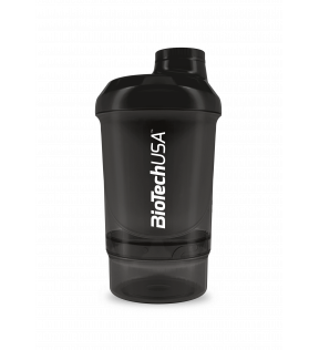 BiotechUSA Shaker, Plastic Fles - Biotech Shaker Wave+ Nano 300ml (+150ml)