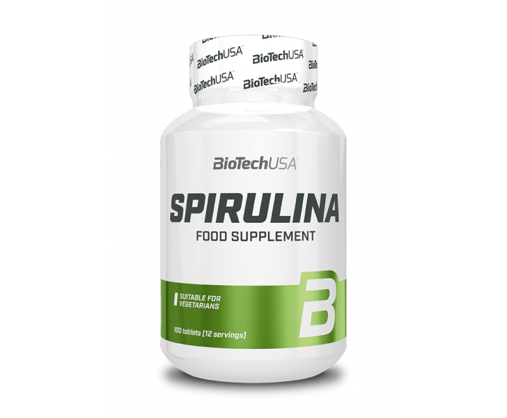 BiotechUSA Vitaminen en Mineralen - Spirulina 100 tab.
