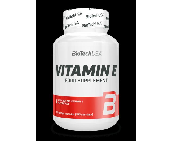 BiotechUSA Vitaminen en Mineralenx - Vitamine E 100 caps.
