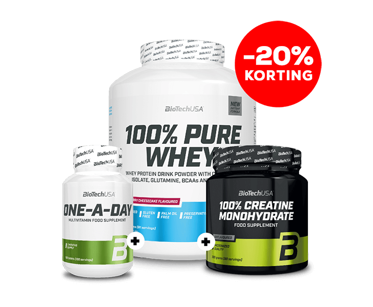 100% Pure Whey 2270g+100% Micronized Creatine 300g+One A Day