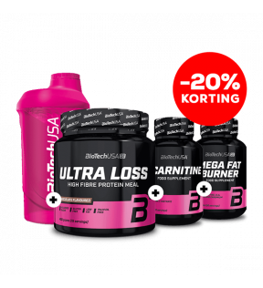 Ultra Loss 450g + L-carnitine 30tab.+ Mega Fat Burner + Shaker 600ml