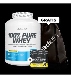 100% Pure Whey 2270g+BCAA 180g en GymBag Gratis