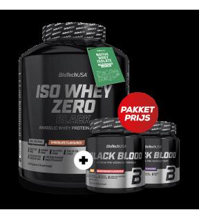 Iso Whey Zero Black 2270g + Black Blood Caf+ Pakketprijs