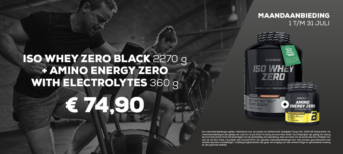ISO WHEY ZERO BLACK 2270G + AMINO ENERGY ZERO 360G