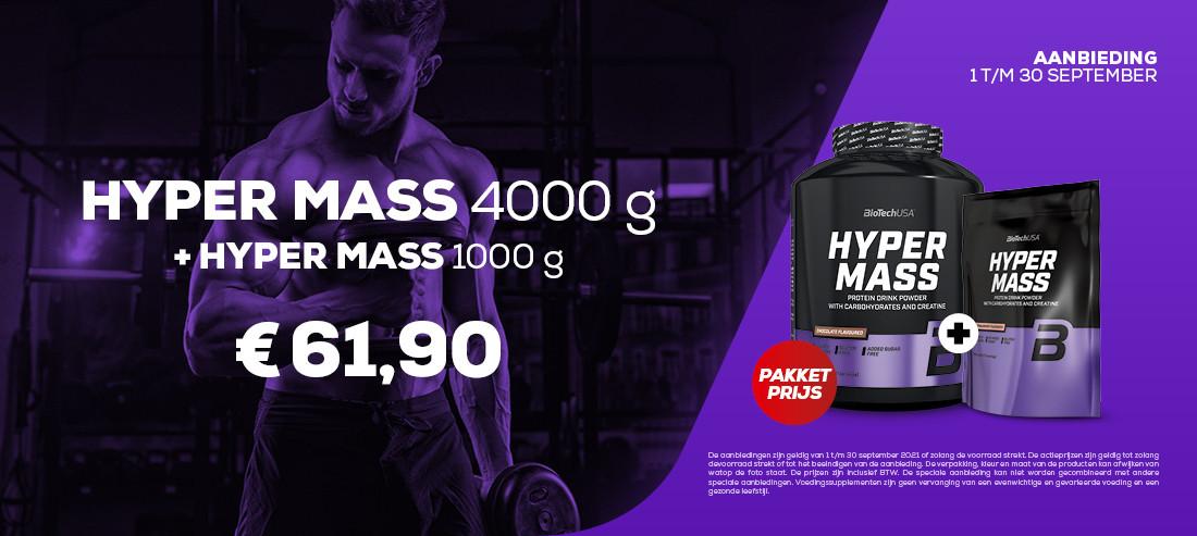 HYPER MASS 4000G + 1000G pakketprijs