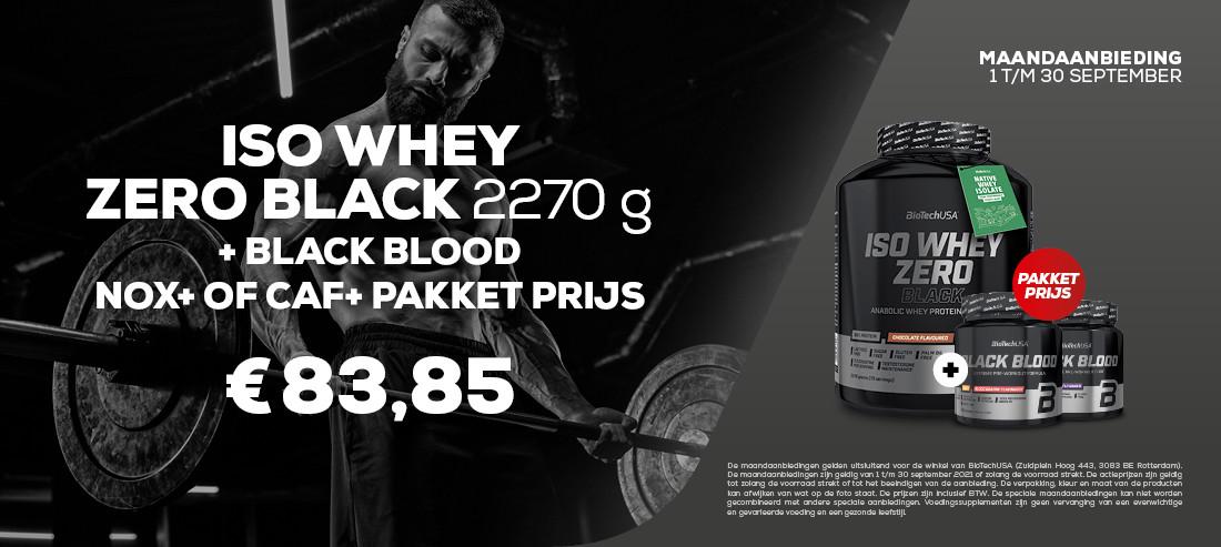 ISO WHEY ZERO BLACK 2270G + BLACK BLOOD NOX+ PAKKETPRIJS